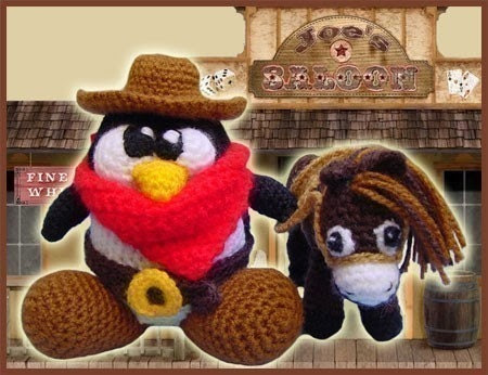 PDF Amigurumi Pattern Crochet - The Good, the Bad and the Tux