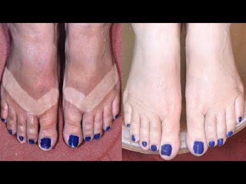 Feet Whitening Pedicure At Home / How To Remove Sun Tan / Skin Whitening