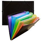 C-Line Products CLI59011-3 Rainbow Document Sorter Black & Multi - 3 Each