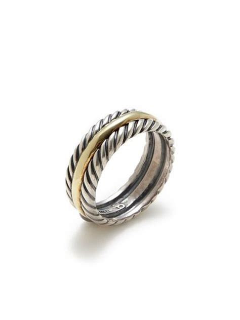 David Yurman Men's Two Tone Cable Band Ring by Estate
