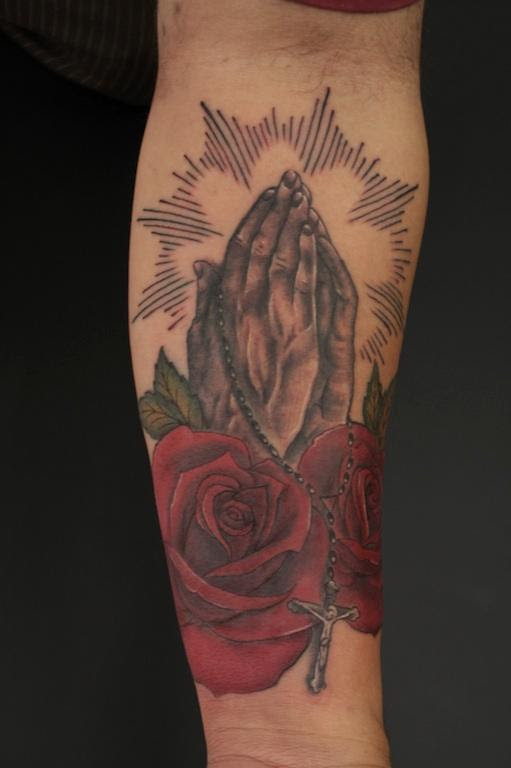 Good Ole Praying Hands By Rebecca Smith Tattoos