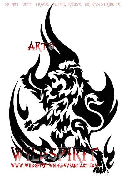 Rampant Lion Tattoo Tattoos Ganks
