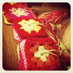 And more squares... #crochet #grannysquares