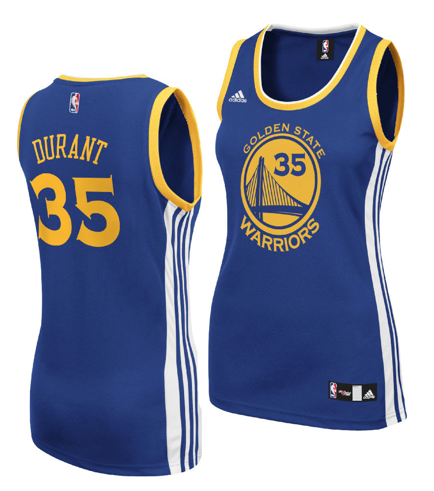 Ladies Kevin Durant Golden State Warriors Basketball Jersey by Adidas   Golden State Warriors