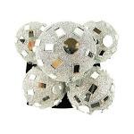 Glitter Mirror Disco Ball Ornaments Hanging Decor Silver