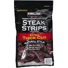 Kirkland Signature Cut Cured & Dried Beef Steak Strips, Extra Thick Cut - 12 oz bag