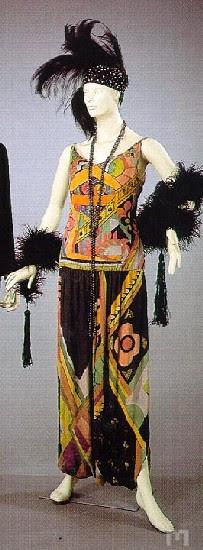 Jazz age dress by Sonia Delaunay, 1920, 1928