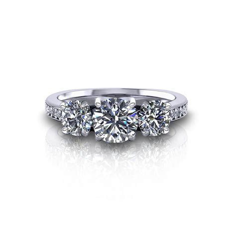 Classic Three Stone Engagement Ring   Jewelry Designs