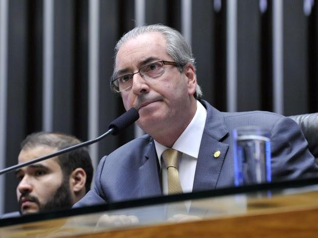 Eduardo Cunha, em sessão da Câmara nesta quarta-feira (4); julgamento sobre permanência dele no STF será nesta quinta (5) (Foto: Luis Macedo/Câmara dos Deputados)