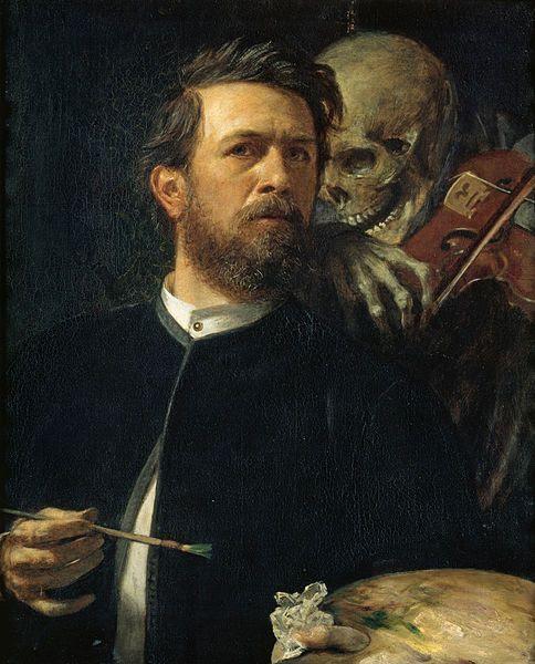 Autorretrato con violinista Muerte