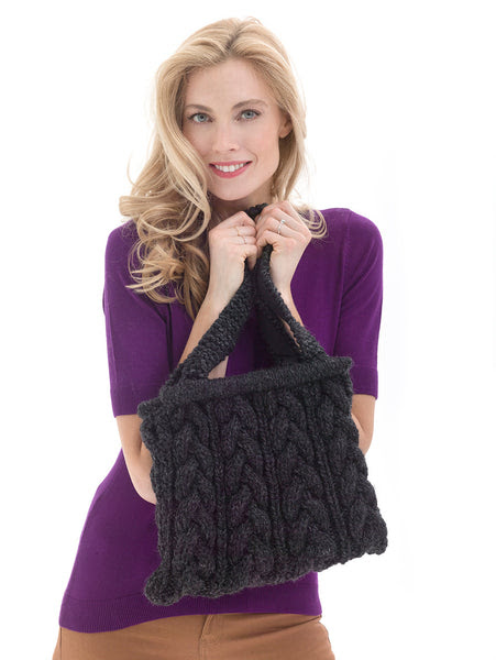 Chic Cabled Bag Pattern (Knit)