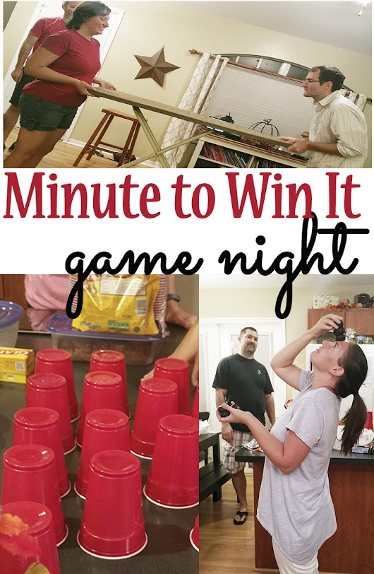 Minute to Win It Game Night | Mom Explores Southwest Florida