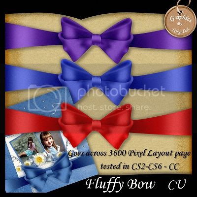 Fluffy Bow Photoshop Action and Template