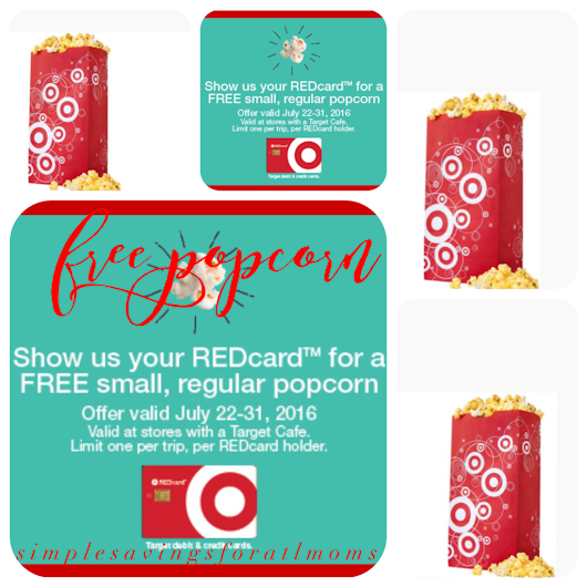 Target Deal:  Free Bag of Popcorn Red card holders only