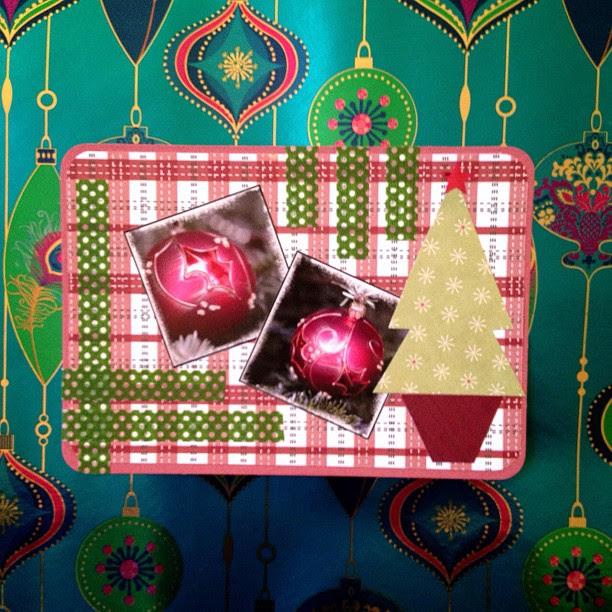 #washitape #baubles #tree #christmas #christmastree #postcard #snailmail
