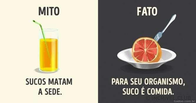 Mitos sobre bebidas
