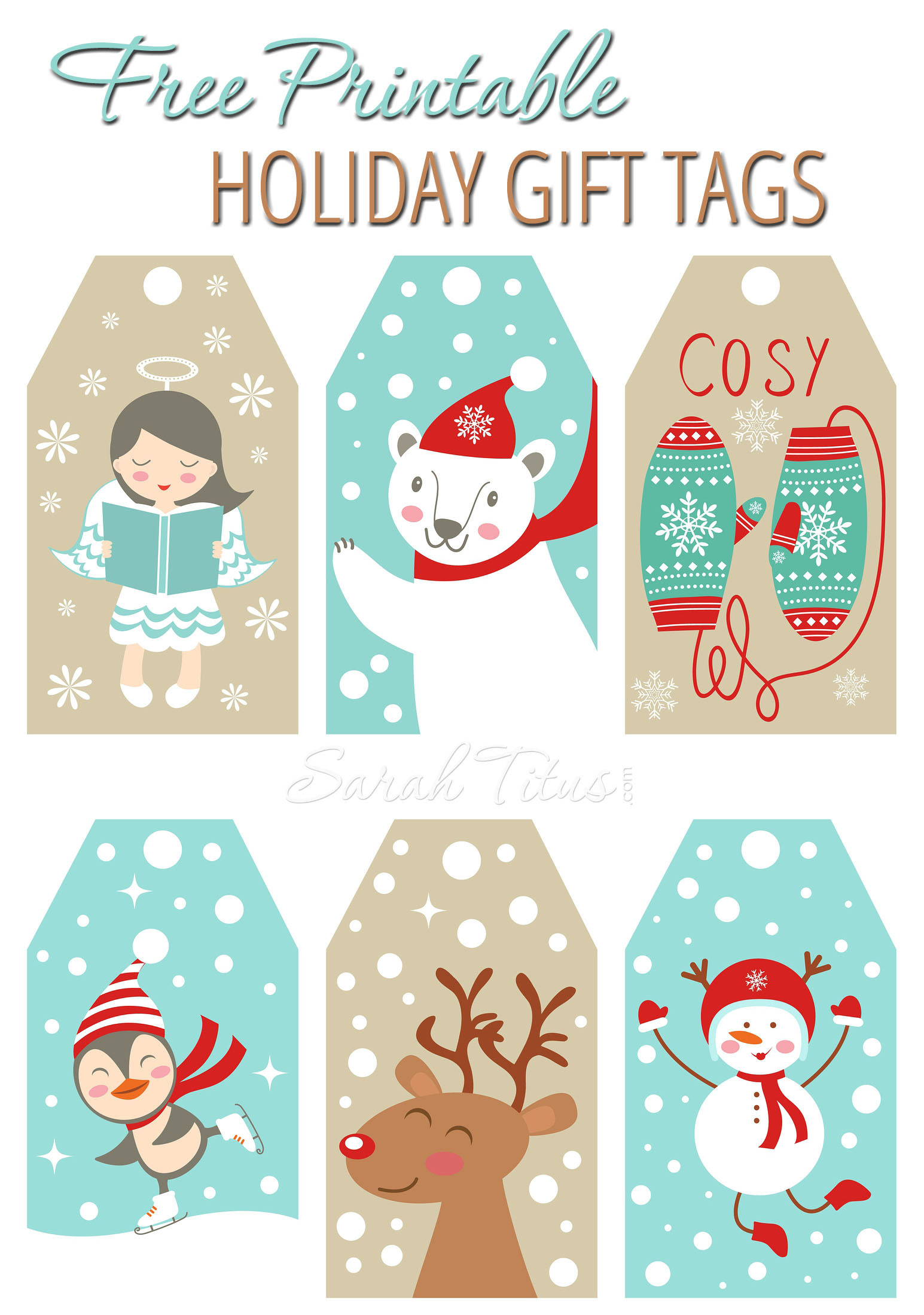 Here are some free printable holiday gift tags