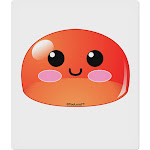 """Cute RPG Slime - Red 9 x 10.5"""" Rectangular Static Wall Cling by TooLoud"""