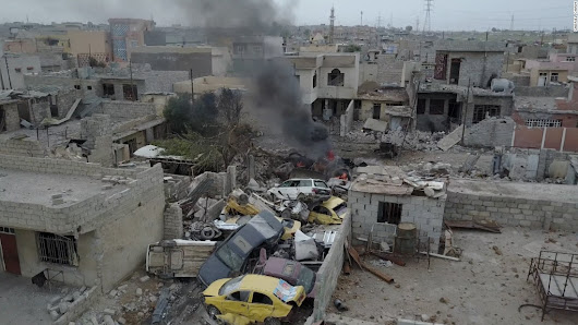 Exclusive drone footage captures west Mosul in the throes of war