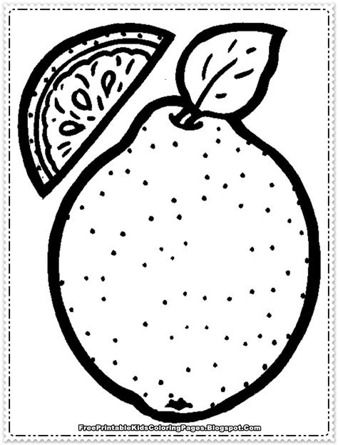 orange fruit printable coloring pages  printable
