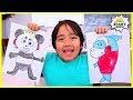 Printable Ryan Combo Panda Coloring Pages