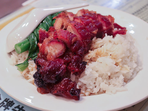 Char siu pork over rice (源記粥麵)