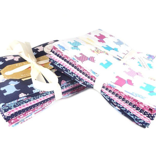Scotty Dog Fat Quarter Fabric Bundle From The Craft Cotton Company