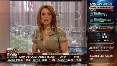 Tv Anchor Babes Alexis Glick In A Hot Low Cut Top On Fbn