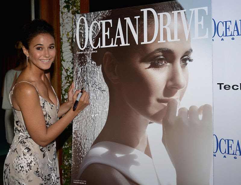 EMMANUELLE CHRIQUI at Ocean Drive Magazine Cover Launch in Miami
