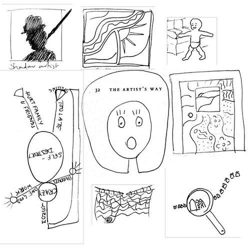Old Artist's Way doodles