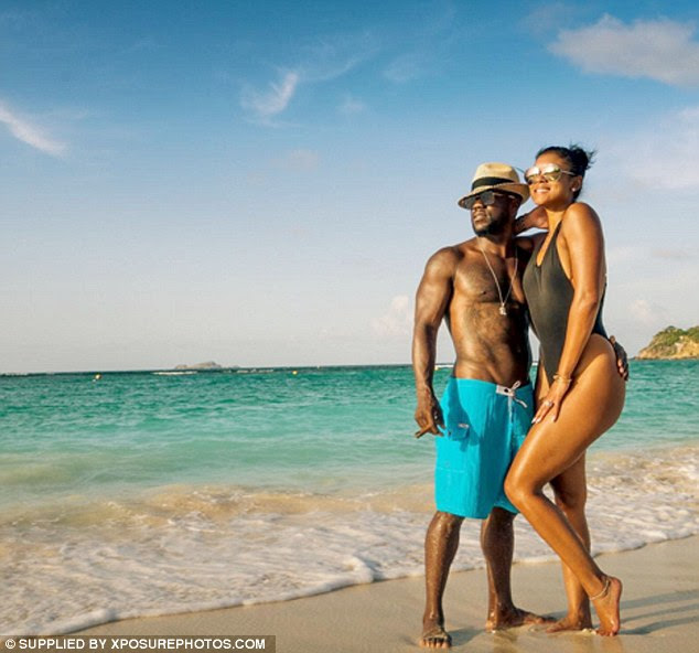 Making a splash: The actor posted a stunning snap of him with Eniko