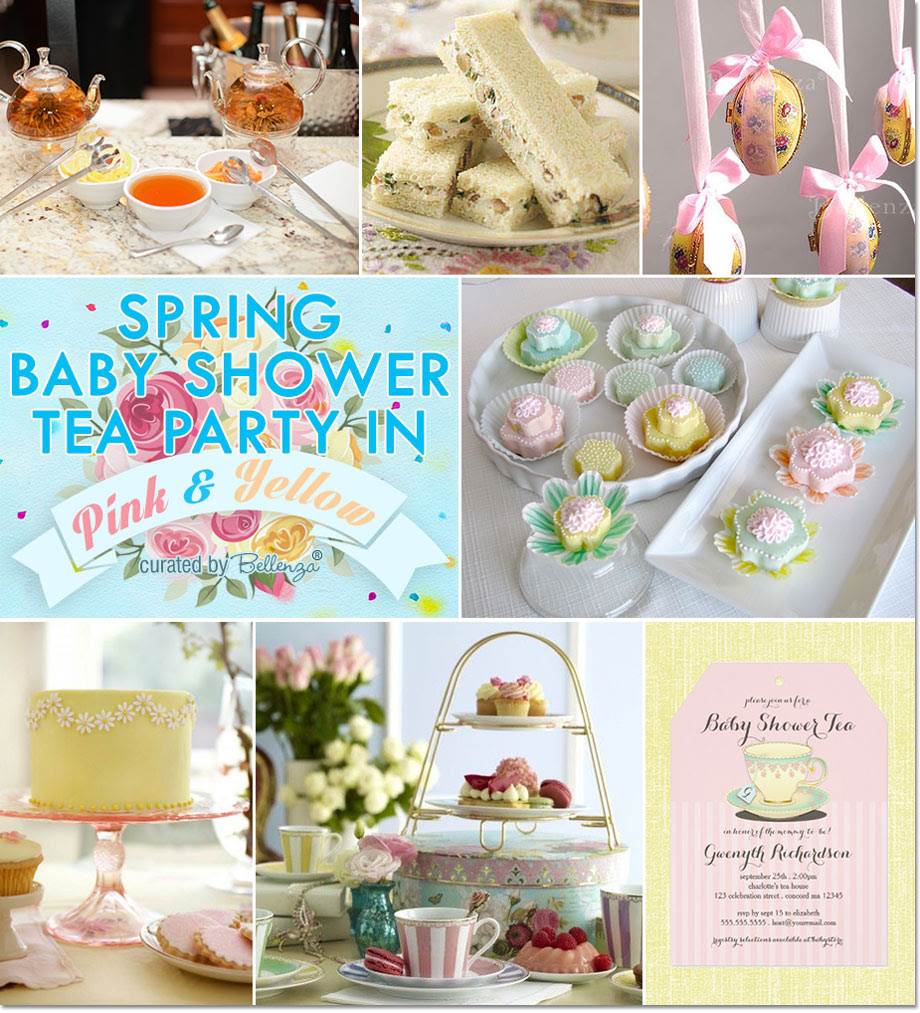 Spring Baby Shower Tea Party In Pink And Yellow