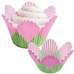 "Wilton Pink Petal Disposable Paper Baking Cups, 2"" Dia. x 2-3/8"" High, 24 Count | Bakedeco"