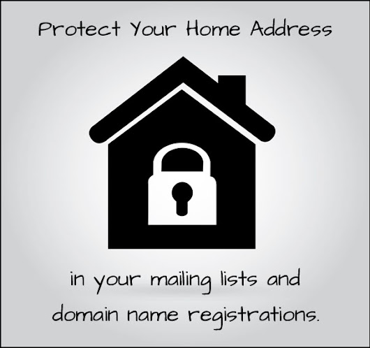 Protect Your Home Address (Mailing Lists and Domain Names) • Stress-Free Website Solutions by Julie Waterhouse