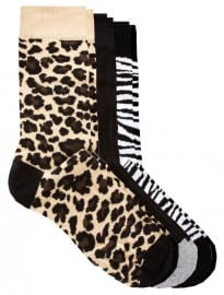 River Island 3-pack Animal Print Socks