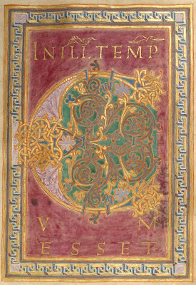 German illuminated manuscript - gospels (letter C)