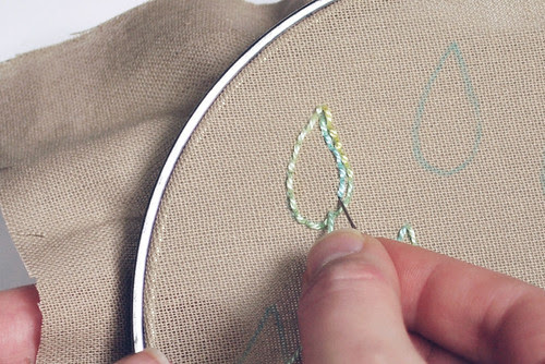 Filling with back stitch