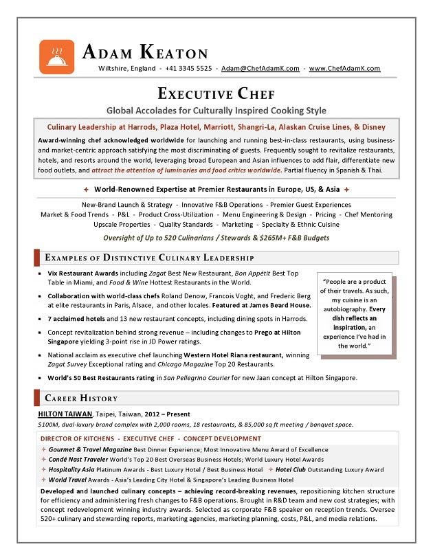 Award_Nominated_Executive_Chef_Resume_Sample