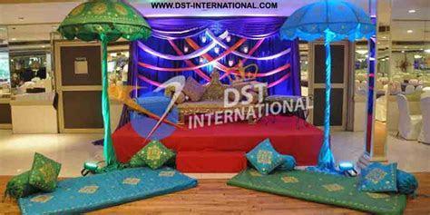 Umbrella Decoration Mehandi Stage   Wedding Stages