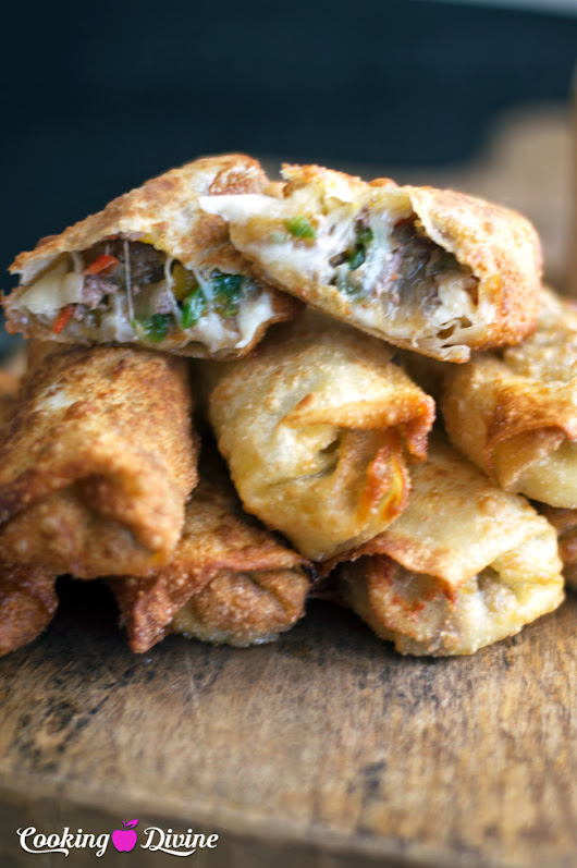 The Best Philly Cheesesteak Egg Roll Recipe
