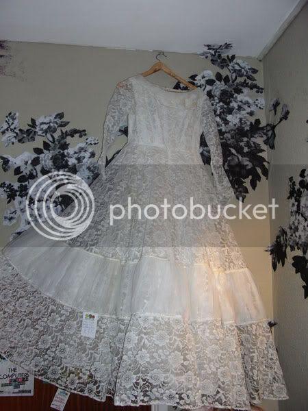 design wedding dress with transparent floral fabric
