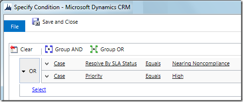 Workflow OR conditions in CRM 2013 SP1
