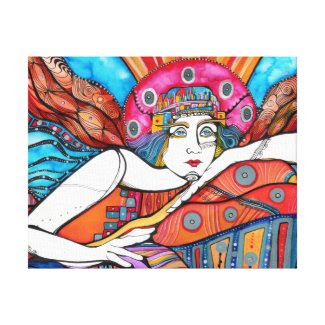 Guardian Angel -Achaiah Stretched Canvas Print