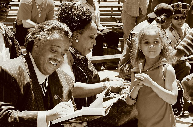 File:Al sharpton book signing in marcus garvey park.JPG