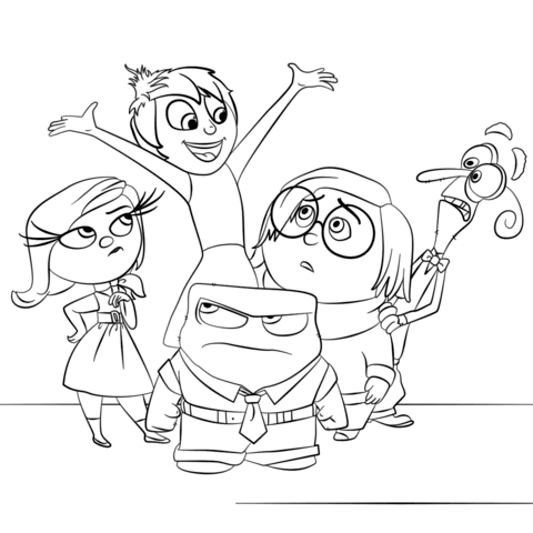 Inside Out All Characters Coloring Page Free Printable Coloring Pages