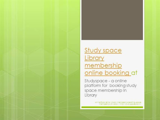 Study Space Library Membership Online Booking