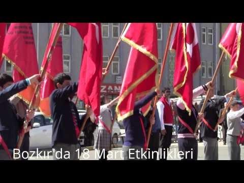 Bozkır'da 18 Mart Anıt Çelenk Töreni