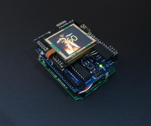 Arduino TouchShield burning man counter by you.