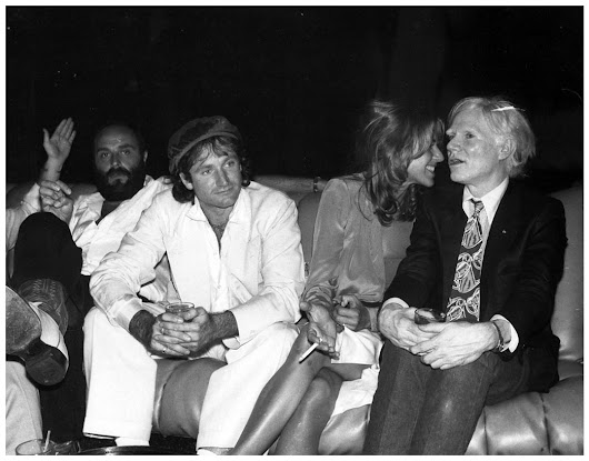 Robin Williams with the man Andy Warhol who inspired my Bowie film