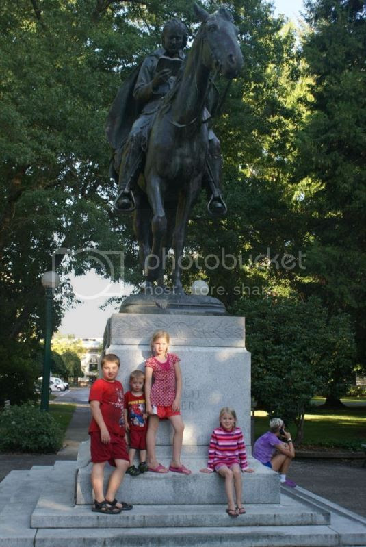Statue for the circuit riding preachers. photo 226719_10201857315744970_1589806153_n.jpg